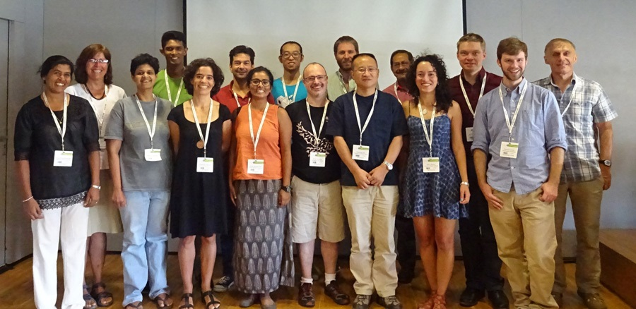 The mixed-species animal group symposium at Ecosummit in Montpellier, France, August 2016. The symposium was co-organized by Eben Goodale and also attended by HAO Gu.